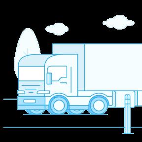 Transpordi kindlustus illustratsioon